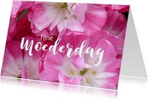 Moederdag roze tulpen