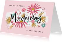 Moederdagkaart bloemen fijne moederdag lieve mama