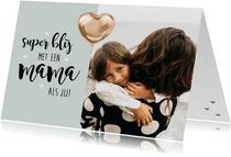 Moederdagkaart foto folieballon
