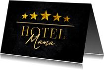 Moederdagkaart HOTEL MAMA vijf sterren stijlvol