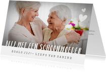 Moederdagkaart met foto - blij met jou als schoonmoeder!