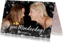 Moederdagkaart met grote eigen foto liggend