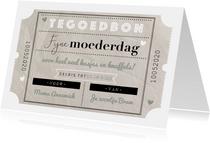 Moederdagkaart tegoedbon vintage coupon en typografie
