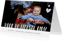 Moederdagkaart voor de liefste oma met foto