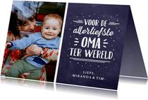 Moederdagkaart voor oma met eigen foto, namen en tekst