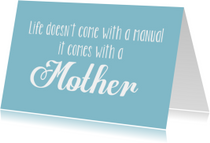 Moederdag kaarten - Moederdagkaart With a mother
