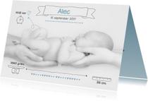 Mooi geboortekaartje Foto Alec