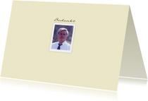Mooie bedankkaart met foto en tekstvoorstel