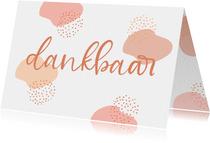 Mooie dankbaarheidskaart met warme kleuren