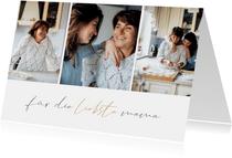 Muttertagskarte Bilderreihe