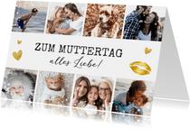 Muttertagskarte eigene Fotos