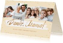 Muttertagskarte Fotos 'Danke Mama'