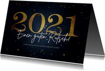 Neujahrskarte 'Einen guten Rutsch'