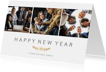 Neujahrskarte geschäftlich Fotocollage schlicht