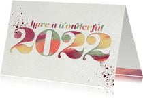 Neujahrskarte 'Have a wonderful 2022'