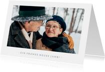 Neujahrskarte klassisch-modern mit Foto
