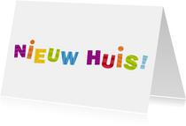 Nieuw Huis Gekleurde letters