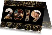 Nieuwjaarskaart 2019 fotocollage spetters
