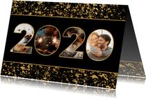 Nieuwjaarskaart 2020 fotocollage spetters