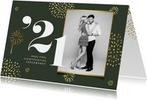 Nieuwjaarskaart 2021 vuurwerk goud stijlvol foto
