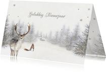 Nieuwjaarskaart bos winter