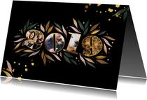 Nieuwjaarskaart botanisch '2019' fotocollage