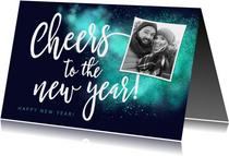 Nieuwjaarskaart Cheers foto sparkle