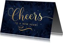 Nieuwjaarskaarten - Nieuwjaarskaart Cheers to a new year!