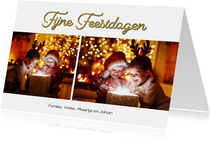 Nieuwjaarskaart collage feestdagen