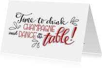 Nieuwjaarskaart dance on the table