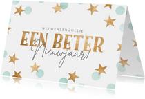 Nieuwjaarskaart 'een beter nieuwjaar'