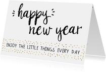 """Nieuwjaarskaart """"Enjoy little things"""""""