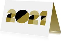 Nieuwjaarskaart - geometrische 2021