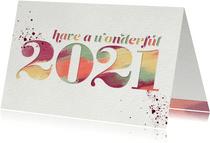 Nieuwjaarskaart 'Have a wonderful 2021'