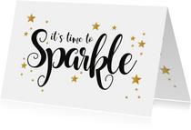 Nieuwjaarskaart let's sparkle