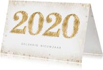 Nieuwjaarskaart met 2020 in dierenprint