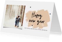 Nieuwjaarskaart met brush en eigen foto