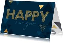 Nieuwjaarskaart met driehoeken