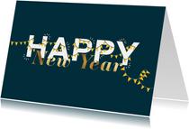 Nieuwjaarskaart met slingers