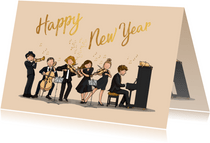 Nieuwjaarskaart orkest