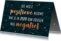 Nieuwjaarskaart positief nieuws 2020 - 2021