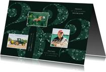 Nieuwjaarskaart zakelijk 2022 groen sparkle ster