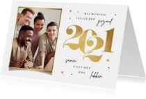 Nieuwjaarskaart zakelijk goud stijlvol sterren foto