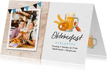 Oktoberfest-Einladungskarte mit Foto