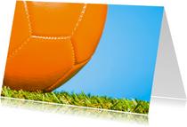 Oranje voetbal voor de kampioen