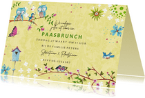 Paas brunch uitnodiging