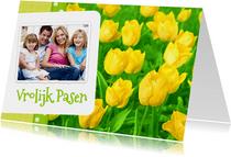 Paas kaart bloemen Tulpen