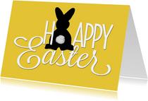 Paaskaart happy easter bunny