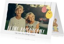 Paaskaart met eigen foto en aanpasbare tekst fijne paasdagen