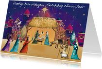 Prettige kerstdagen en gelukkig nieuw jaar kaart